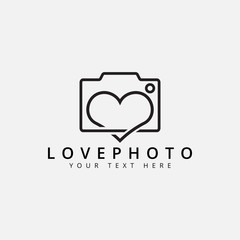 Love photo logo design template vector isolated