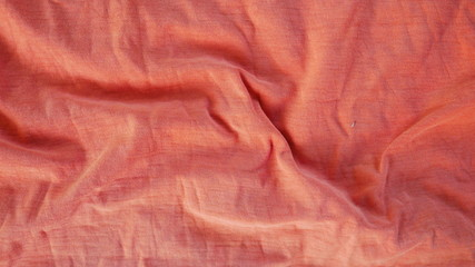 orange silk cotton texture background, old red fabric cloth texture