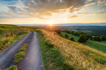 Wall Mural - Beautiful sumer sunset in the Dorset countryside