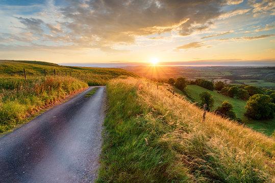 Stunning sunset over the Dorset countryside