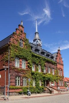 Townhall of the holiday destination Plau on lake (Plau am See), Mecklenburg Lake Plateau, Germany
