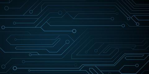 Obraz Futuristic cyber computer circuit background. Circuit board. Electronic network. Vector illustration - fototapety do salonu