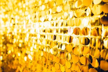 Large size golden sequins texture festive background