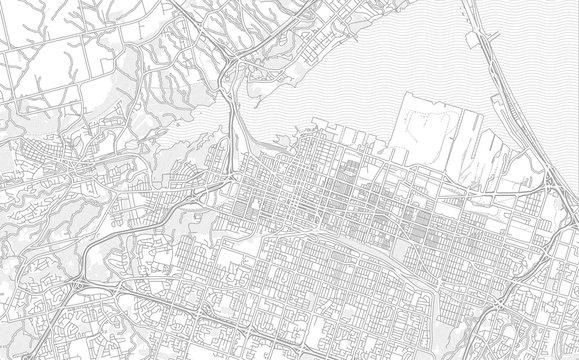 Hamilton, Ontario, Canada, bright outlined vector map