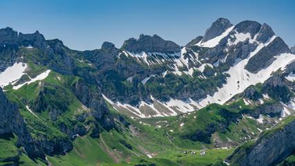 Switzerland, Panoramic view on Altman peak