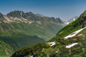 Switzerland, Sustenpass beautiful panoramic view.