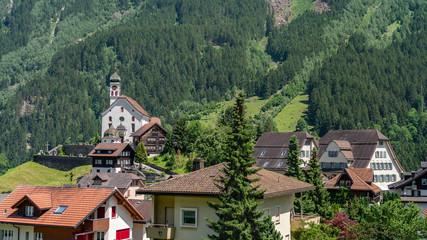 Switzerland, Wassen village scenic view