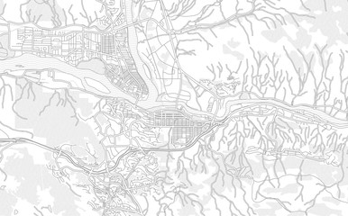 Kamloops, British Columbia, Canada, bright outlined vector map Fototapete