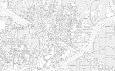 Port Coquitlam, British Columbia, Canada, bright outlined vector map Fototapete