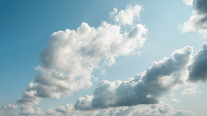 Clouds on a beautiful blue sky