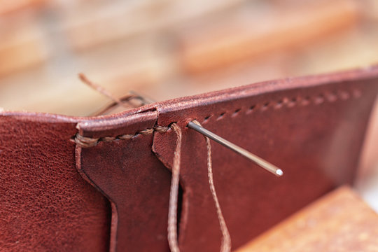 Sewing creating leather handmade wallet leathercraft