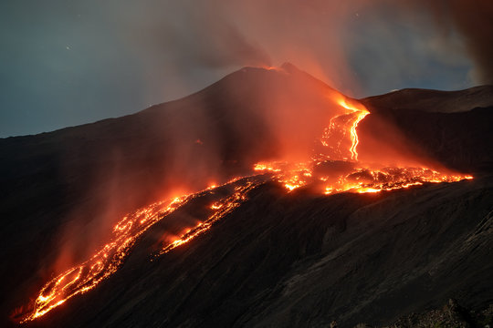 Incredible lava flow of the Volcano Etna - Catania, Sicily