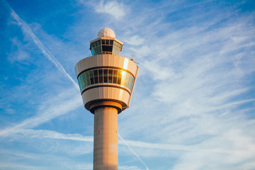 air traffic control tower in Schiphol airport Netherlands Fotomurales
