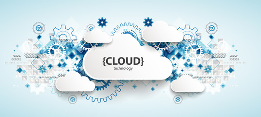 Wall Mural - Web cloud technology, business abstract background.