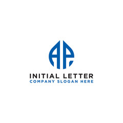 logo design inspiration for companies from the initial letters of the AP logo icon. -Vector