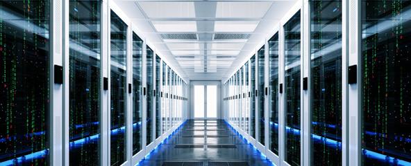 Obraz Backup cloud data service center. 3D rendering - fototapety do salonu