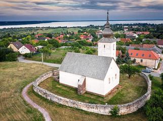 Medieval protestant church in Balatonalmádi, Hungary