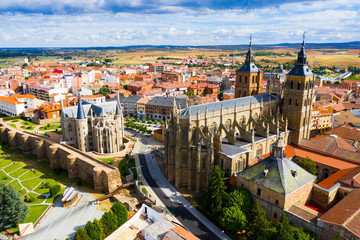 Tuinposter Barcelona View from drone of Astorga