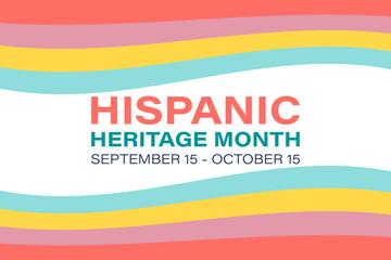 Hispanic Heritage Month September 15 - October 15. Background, poster, greeting card, banner design.  Wall mural