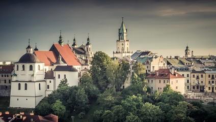 Lublin panorama miasta z zamkiem