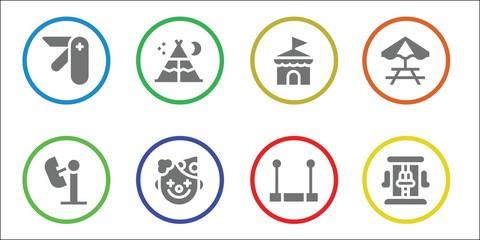 tent icon set