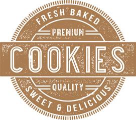Vintage Fresh Baked Cookies Sign