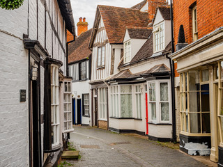 old historic roman market town of alcester warwickshire england uk