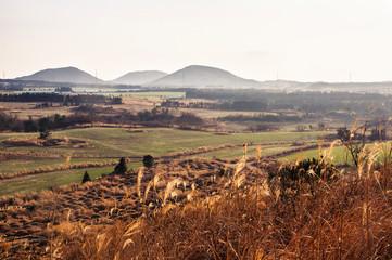 Foto op Plexiglas Diepbruine Mountain landscape scenery in autumn