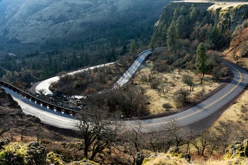 The Rowena Loops on the Hisotric Columbia River Highway, Oregon