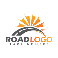 road logo concept icon vector