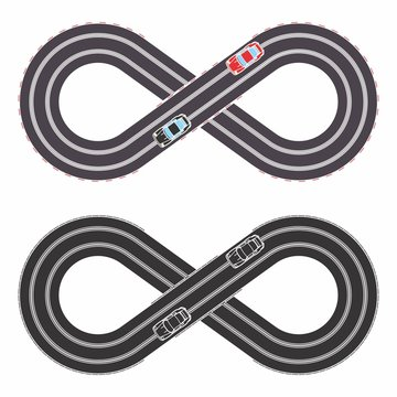 Slot cars toy simple colored