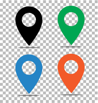 location pin icon on transparent. pin on the map sign.  location pin symbol. map pointer symbol. map pin sign. map pin icon for your web site design, logo, app, UI. compass location icon.