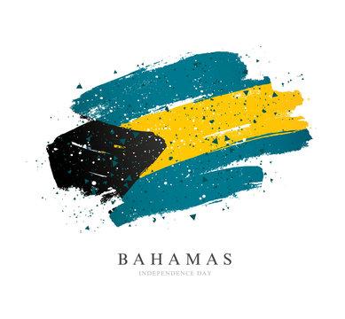 Bahamas flag. Vector illustration on a white background.