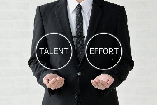 ビジネスイメージ―才能か努力か
