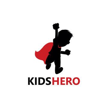 Kids Hero Logo Template Design Vector, Emblem, Design Concept, Creative Symbol, Icon