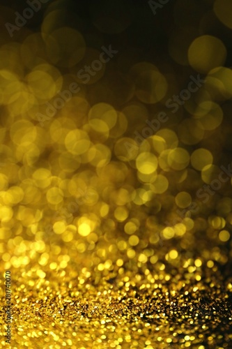 Gold Glitter Background With Bokeh Defocused Lights Phone