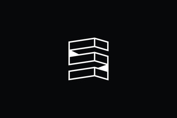 Logo design of S S in vector for construction, home, real estate, building, property. Minimal awesome trendy professional logo design template on black background.