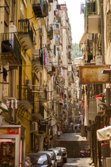 Poster Havana Streets of Naples, Narrow path between roads