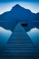 Steg am See in den Bergen - Traunsee in Österreich