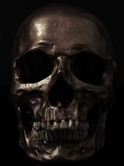 dark image of a skull.