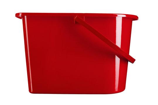 red mop bucket