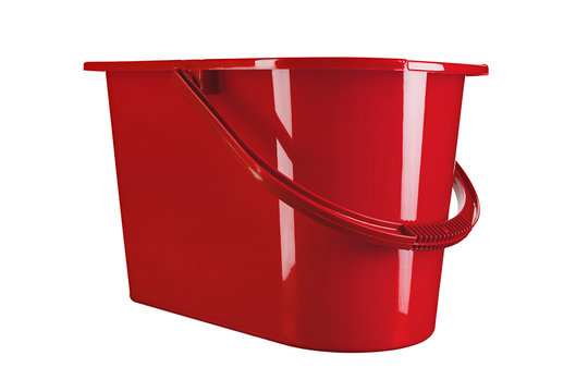 red mop bucket place for text