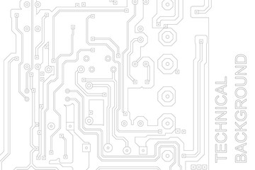 Abstract technological background with a circuit board texture. Vector hi tech Illustration.
