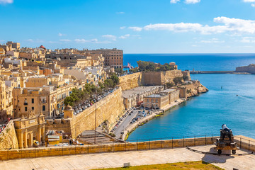 Aerial view Valletta from Barrakka garden Fototapete