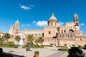 La pose en embrasure Palerme Palermo cathedral view