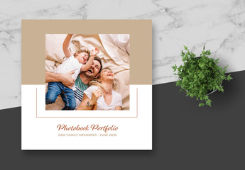 White and Tan Photo Album Layout