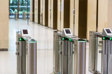 Electronic Entrance gate card.