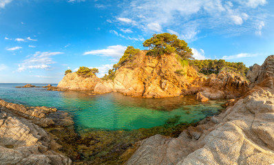 Fototapete - Spain, Catalonia. Landscape of Costa Brava.