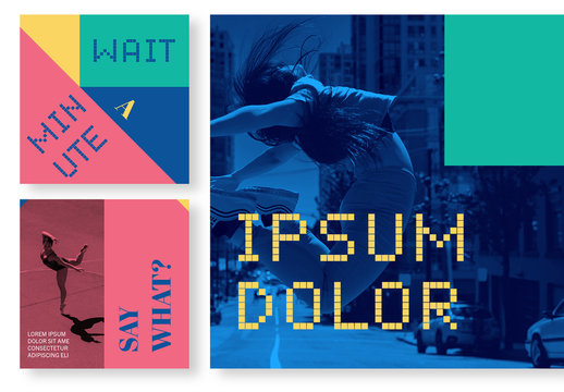 Colorful Social Post Grid Layout