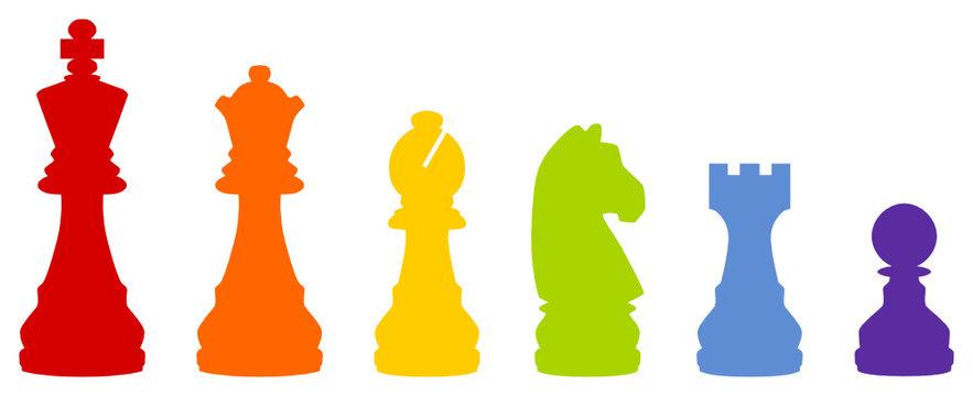 bunte Schachfiguren